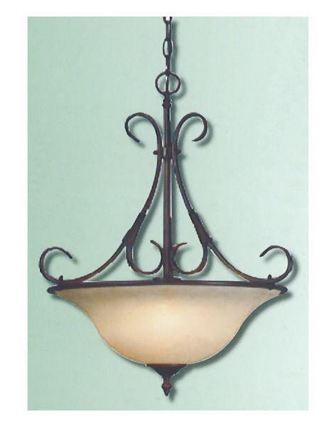 epiphany lighting 102606 orb three light pendant chandelier in oil