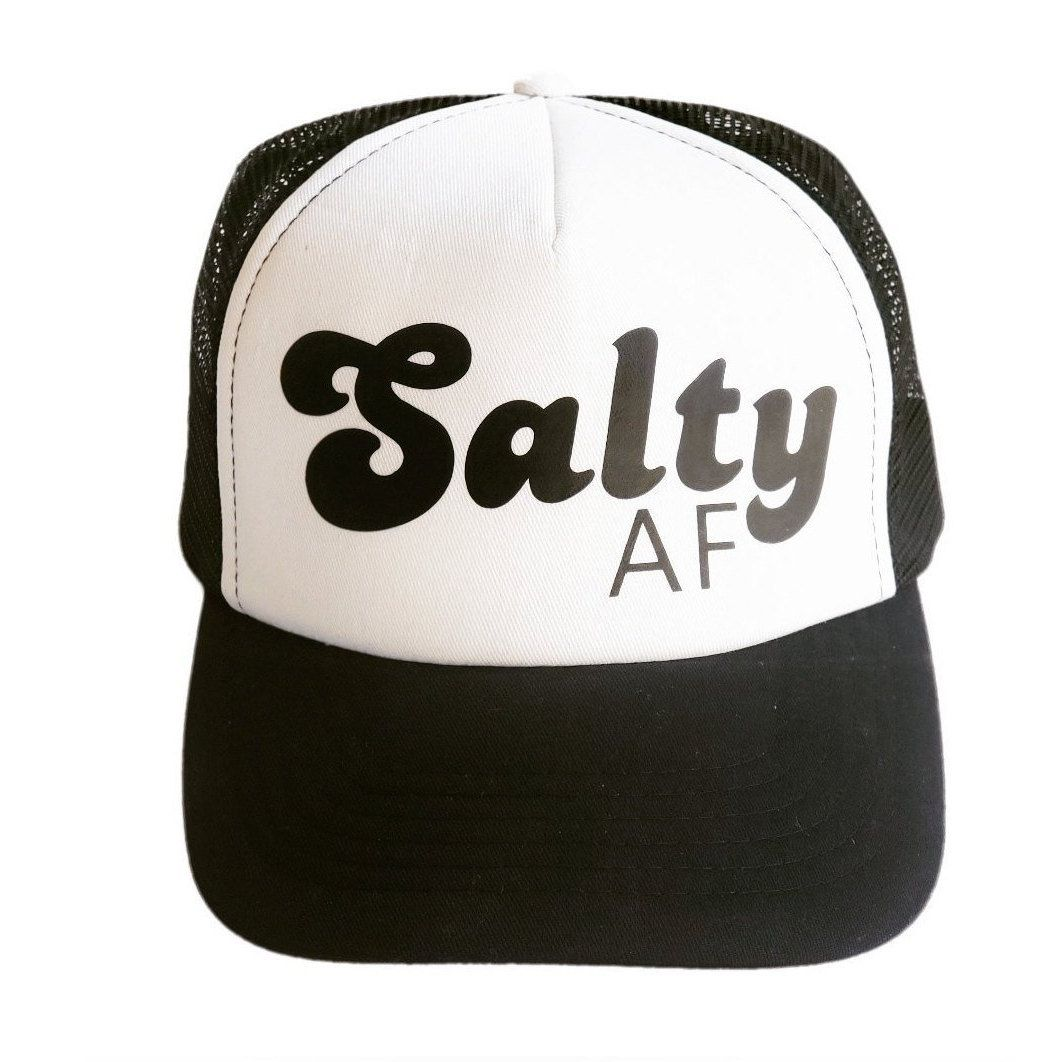 d5552f5c Excited to share this item from my #etsy shop: Salty AF Trucker Hat, Salty  Trucker Hat, Beach Hat