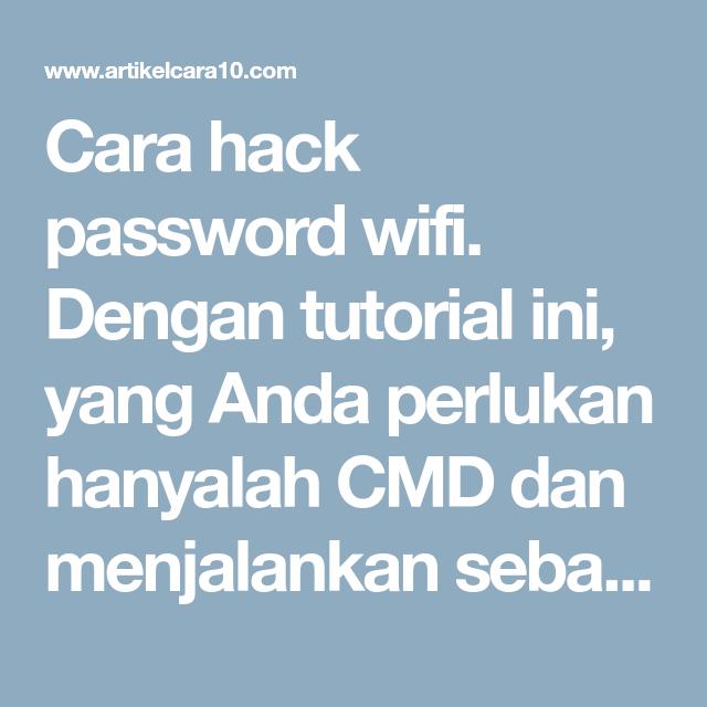 Cara hack wifi