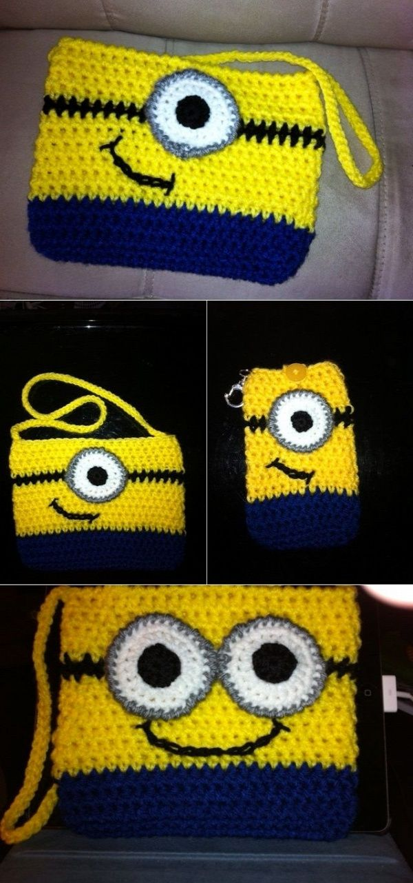 Crochet Minion Purse – DIY | bags | Pinterest | Comedido, Labores y ...