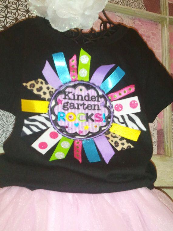 Kindergarten  Rocks Ribbon Shirt Any grade by PettiLittleFrills, $34.00