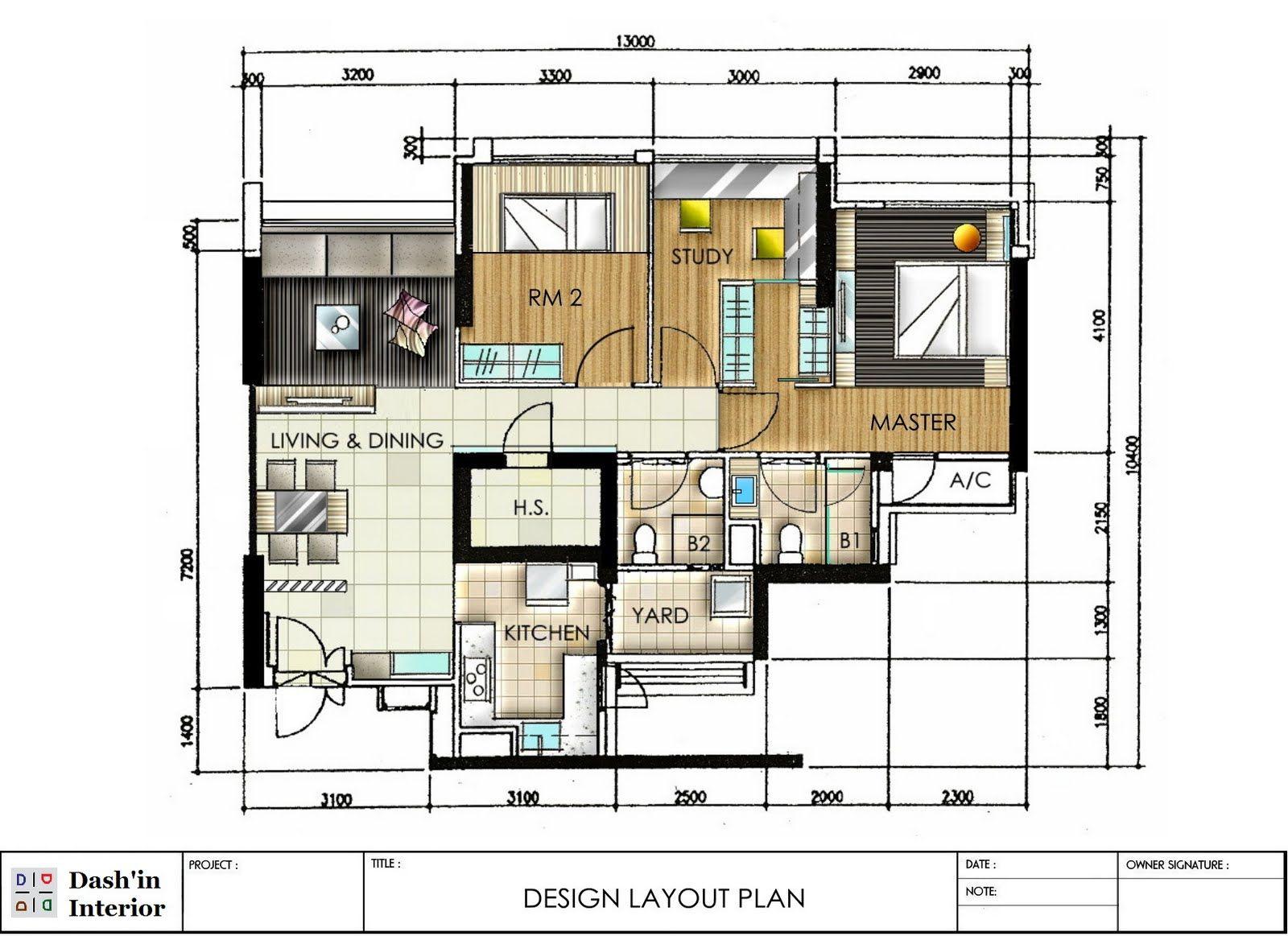 Dash Interior Hand Drawn Designs Floor Plan Layout That This Typical