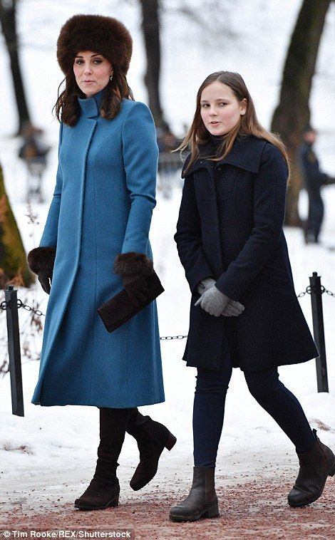 February 1, 2018 ~ Princess Ingrid-Alexandra of Norway escorts Catherine,  Duchess of