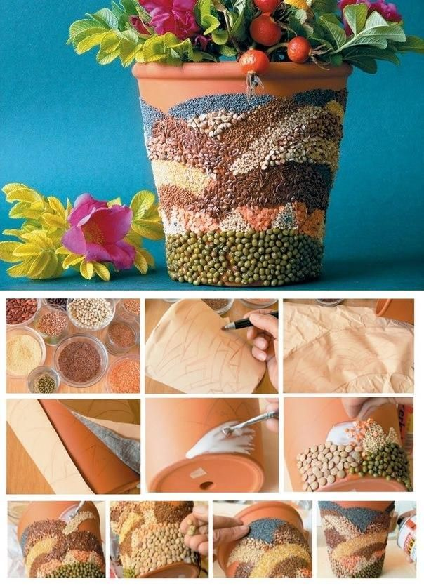 18 Simple Easy Diy Flower Pot Designs Home Decor Pinterest