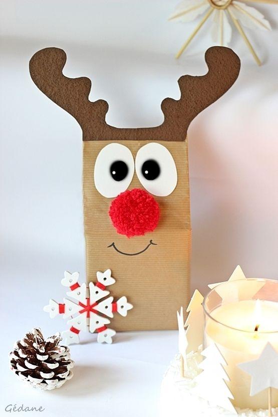 Diy Pour Noël Noel Renne De Noel Et Papier Cadeau Original