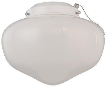 Amazon.com: Westinghouse Lighting 7783800 Schoolhouse Glass Indoor/Outdoor 4-Inch Fitter Ceiling Fan Light Kit, White Finish with White Glass Shade: Home Improvement