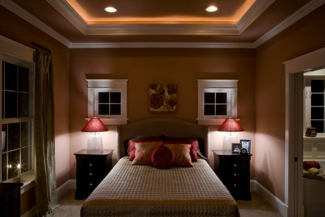 Tray Ceiling In Master Bedroom With Rope Lighting And