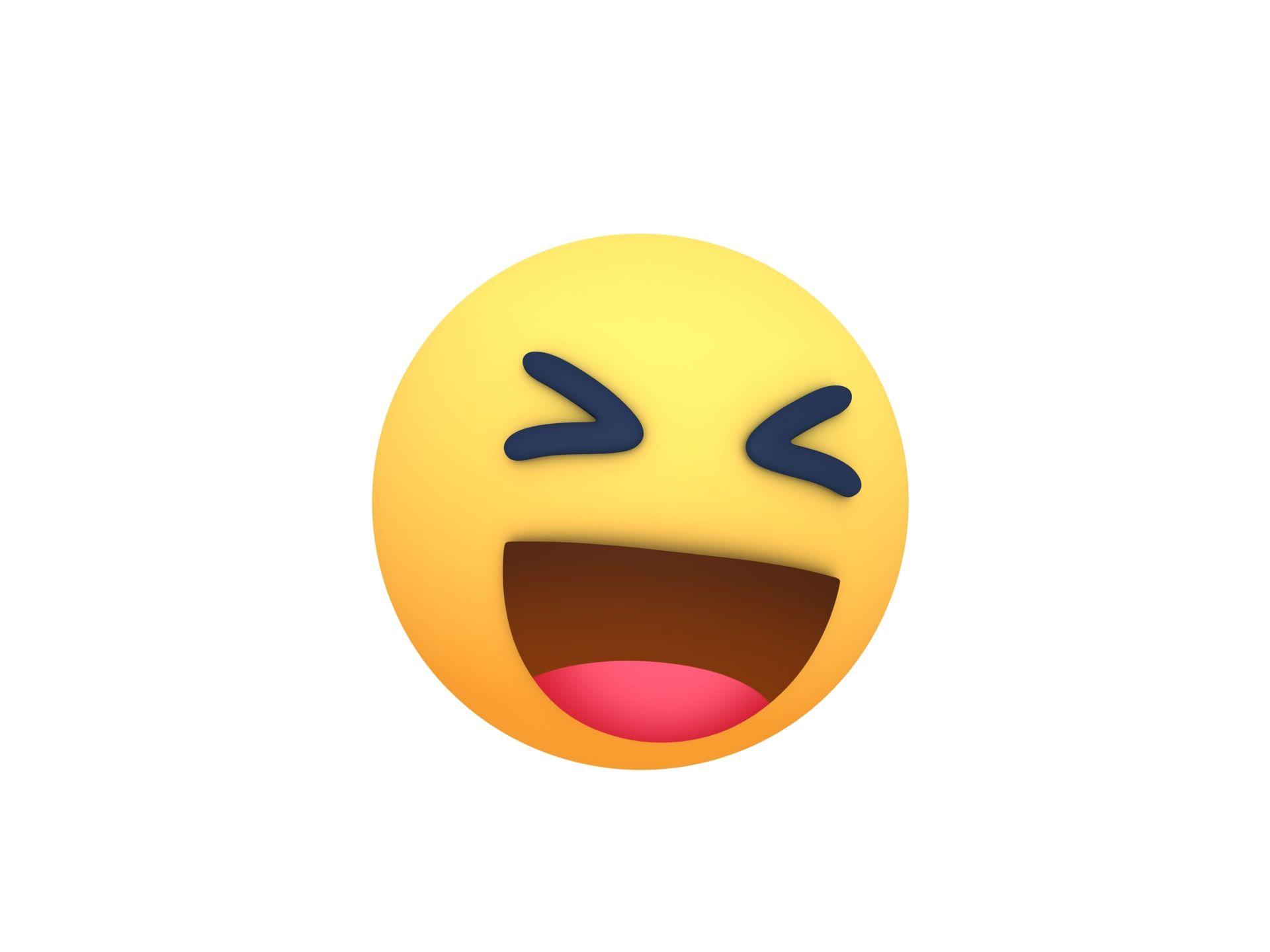 Animated Facebook Haha Reaction Button In 2020 Animation Cartoon Styles Haha
