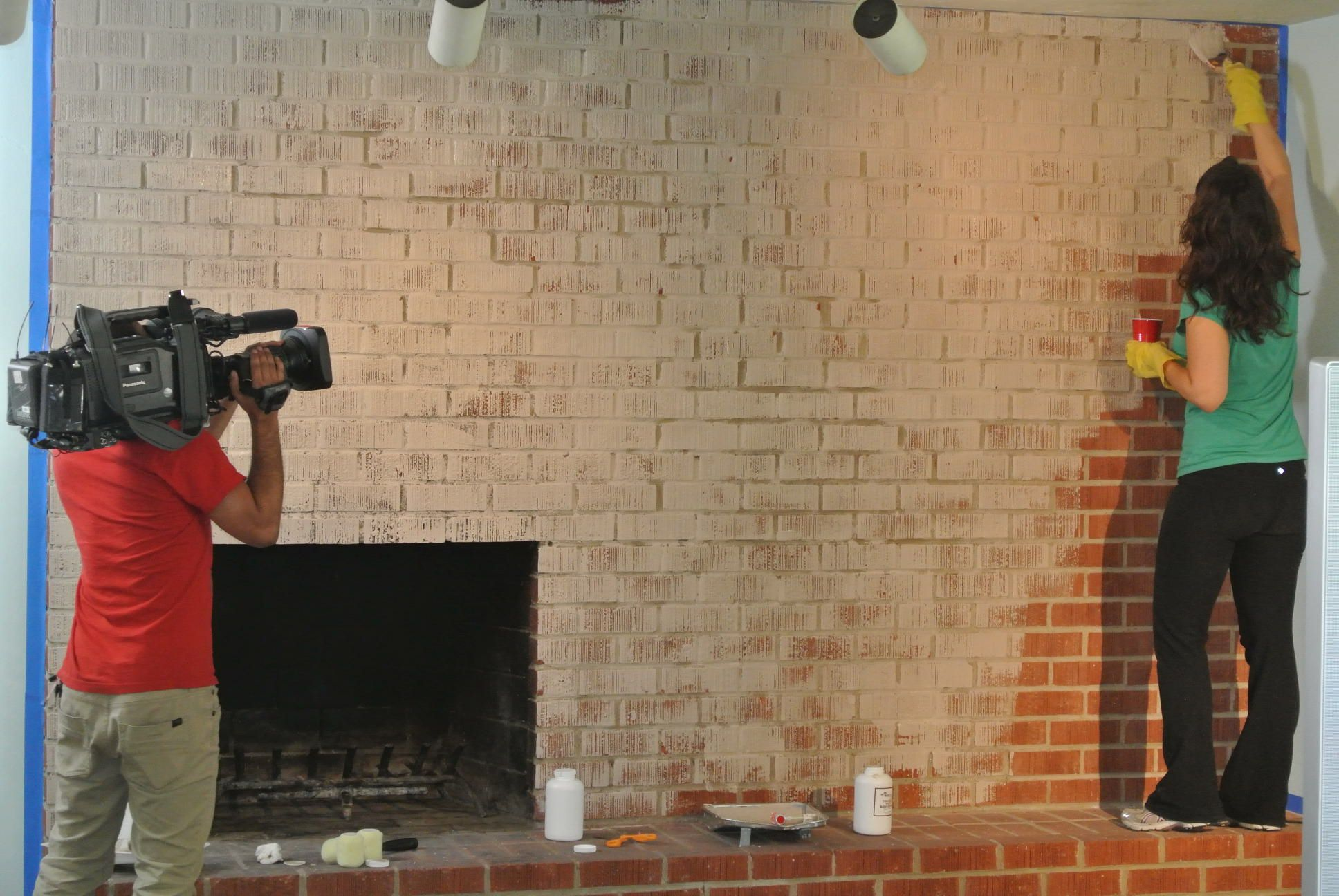 Painting Brick Fireplace Before And After - Hgtv Home Paint
