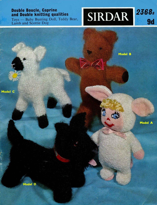 "Vintage Stuffed Animal Toy Pattern ~ Scotty Dog ~ 13/"" long"