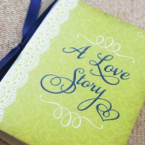 Vintage Booklet Wedding Invitation - Library Book Invite