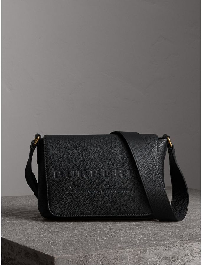 af5c40cdc23b Burberry Small Embossed Leather Messenger Bag