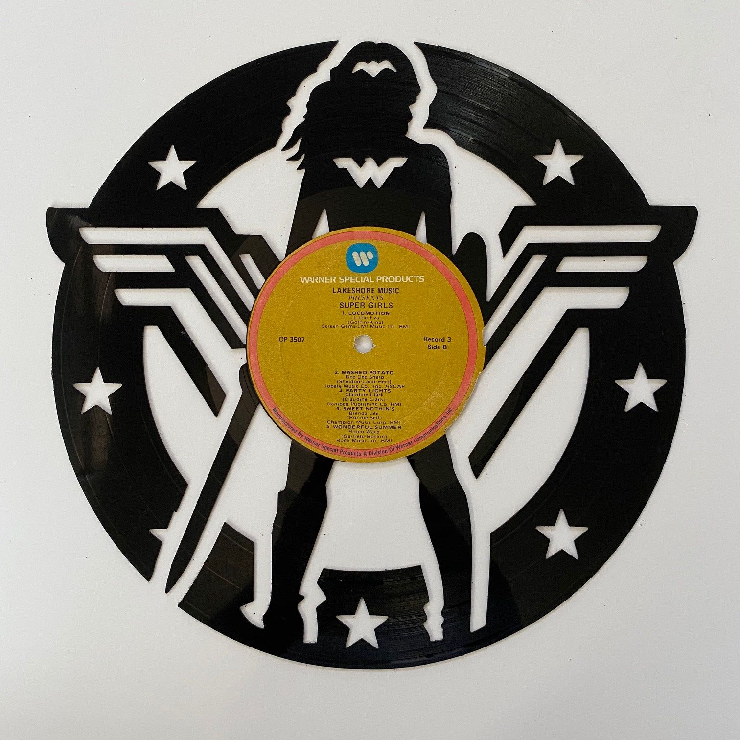 Excited To Share The Latest Addition To My Etsy Shop Wonder Woman Vinyl Record Art Https Etsy Me 34ebxuf O Vinyl Record Art Record Art Vinyl Record Crafts