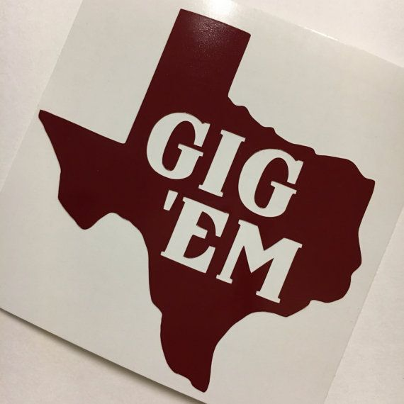 Texas A Amp M Sticker Texas Aggies Vinyl Tamu Decal Gig