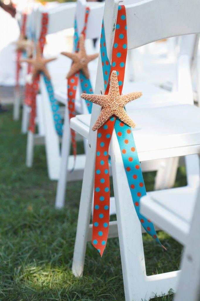Starfish Wedding Ceremony - Orange and Turquoise Goldfish Themed Wedding at the Renaissance Vinoy – Carrie Wildes Photography