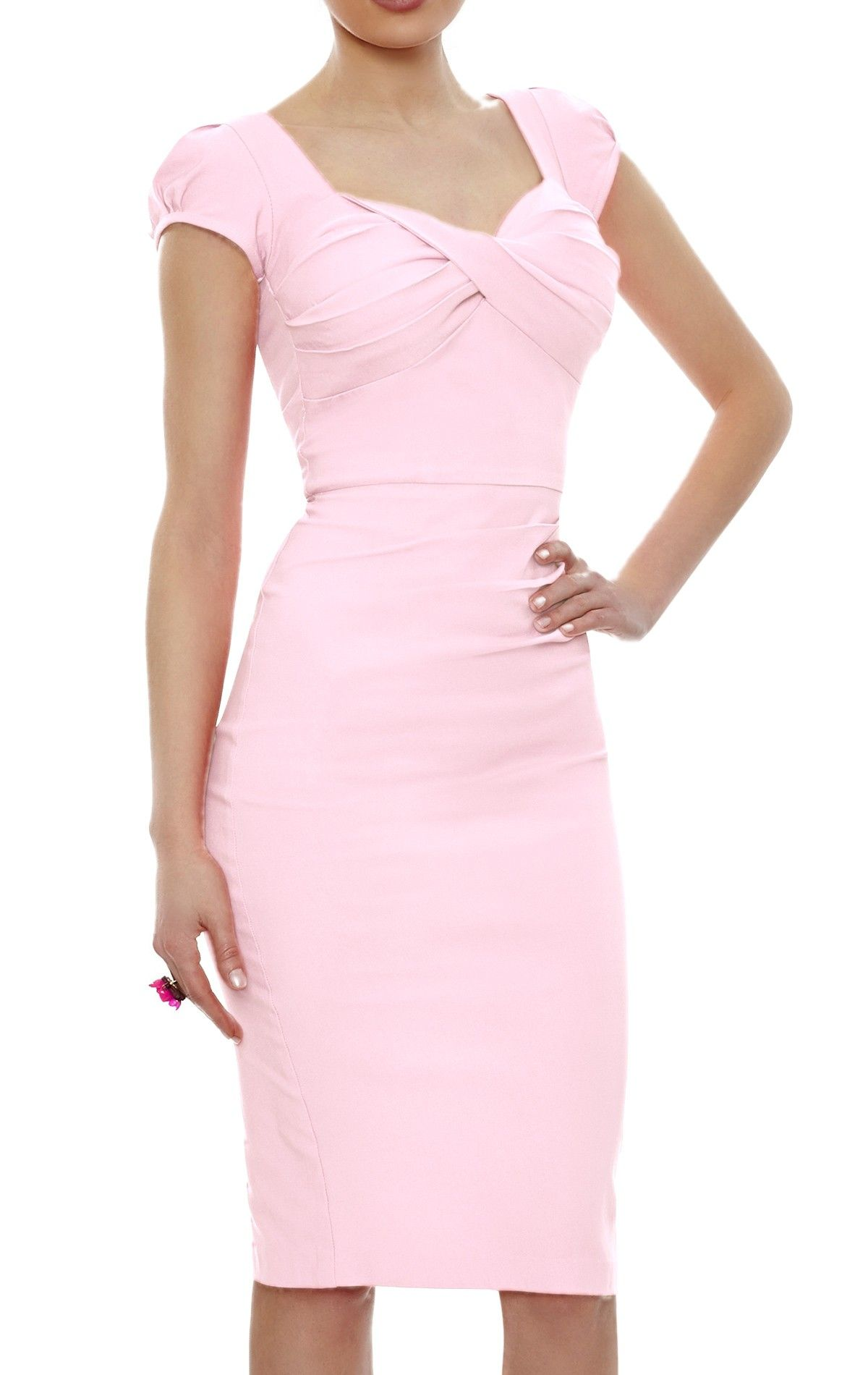 The pink Nigella Dress draws on the vintage charm and feminine ...