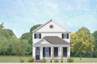 Exterior of the Belle floor plan offering 3 bedrooms, 3.5 baths, and 2-car garage.