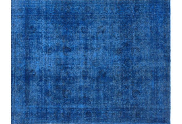 """9'8""""x12'9"""" Everly Hand-Knotted Rug, Blue"""
