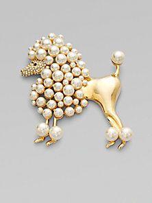 Isaac Mizrahi Poodle Pin Jewelry Pinterest