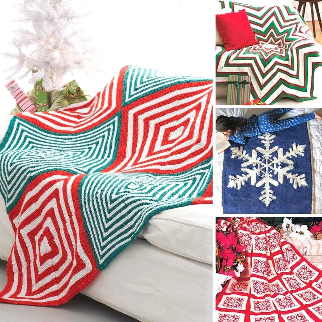 7 Free Christmas Afghans Knitting Patterns — Blog ...