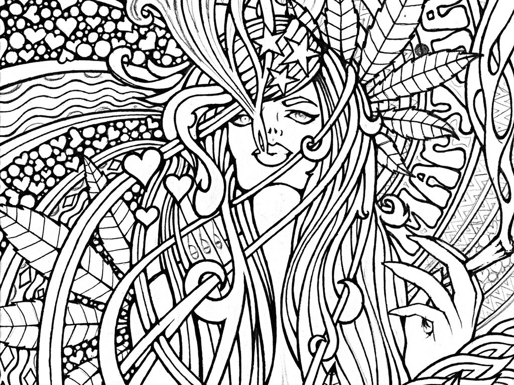stoner trippy weed coloring pages - photo#27