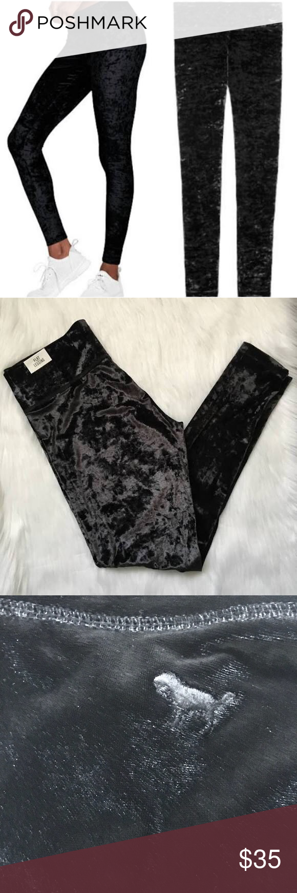 a8123ecefec19 Victoria Secret Pink Velvet Leggings sz S Pink Victorias Secret Black Velour  Leggings Size Small,