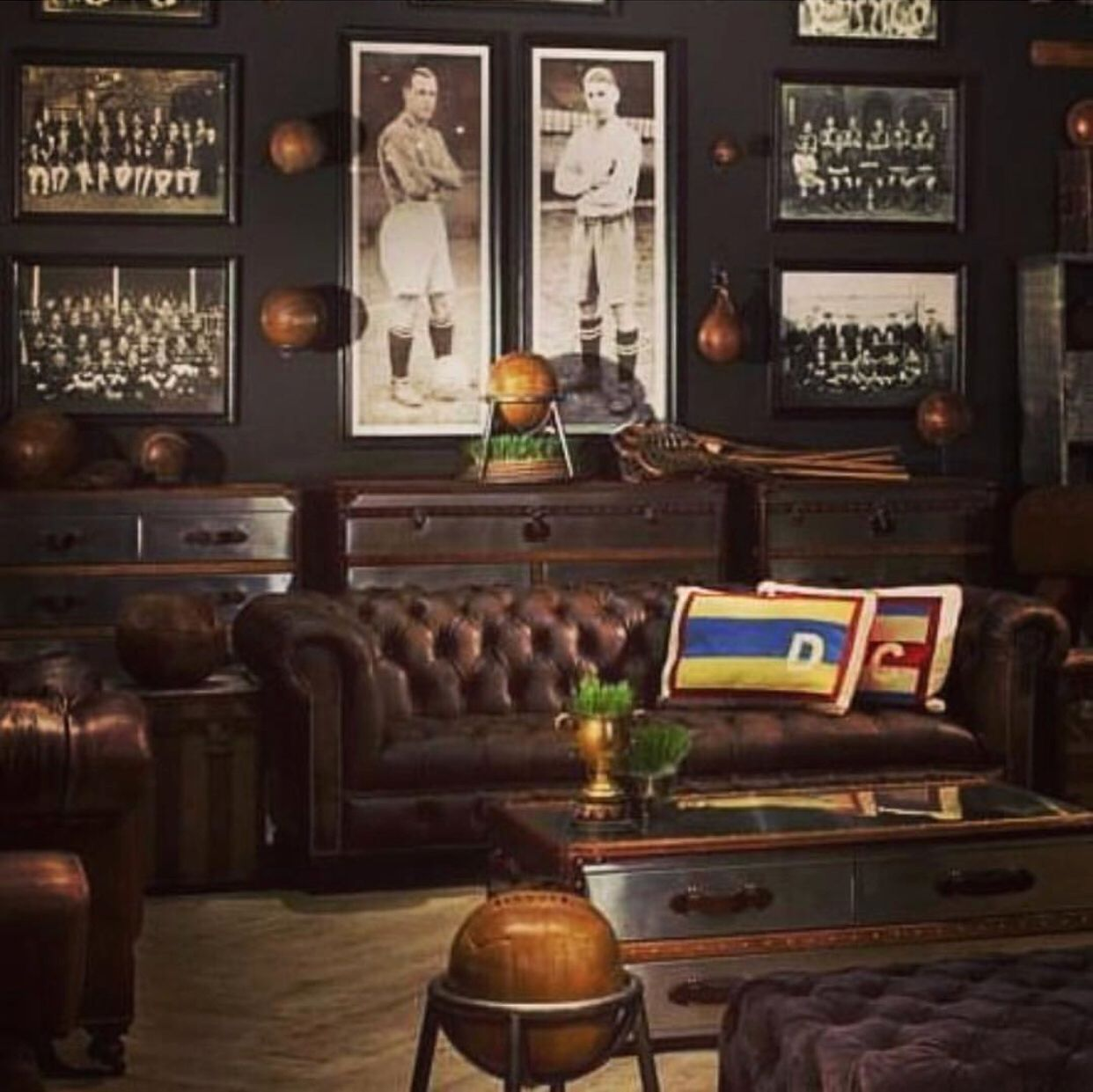 We Love This Vintage Style Mancave Is The Perfect Room For A