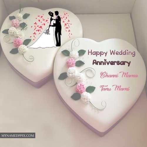 Wedding Anniversary Cake With Name Photos Edit Images Wedding