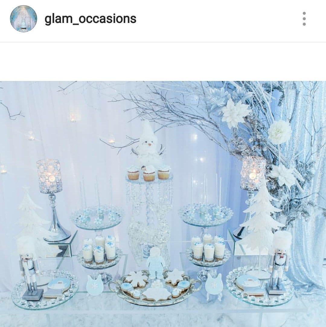 Winter Wonderland Babyparty Dessert Tisch und Dekor   – NYE