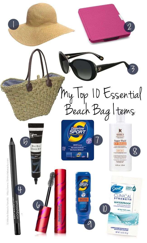 Top 10 Beach Bag Items | Beach and Bag
