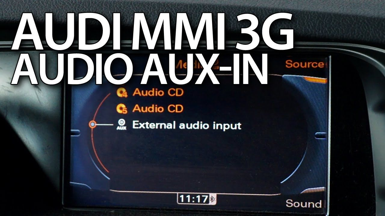 How to activate audio #AUX in #Audi #MMI 3G #A1 #A4 #A5 #A6