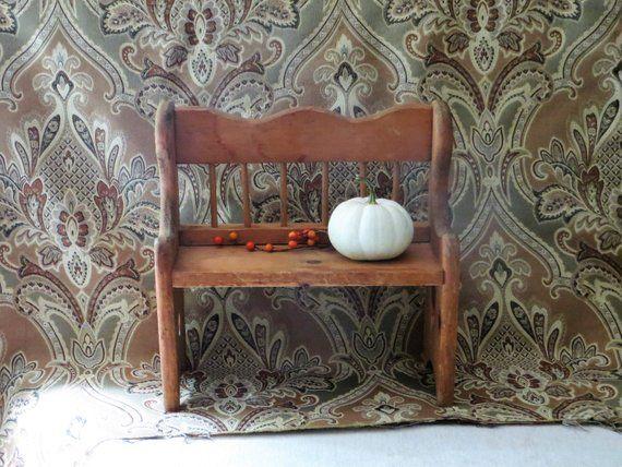 Excellent Vintage Wood Doll Bench Doll Furniture Doll Display Wood Inzonedesignstudio Interior Chair Design Inzonedesignstudiocom