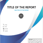 قالب صفحة الغلاف في Word For Report تنزيل قوالب التصميم In 2020 Cover Page Template Cover Pages Cover Template