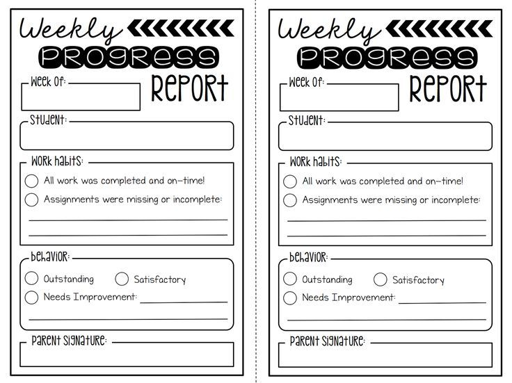 Best  Weekly Behavior Report Ideas On   Daily
