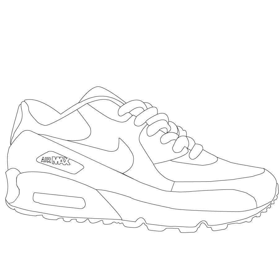 Coloring pages for jordans - Air Jordan Shoes Coloring Sheets