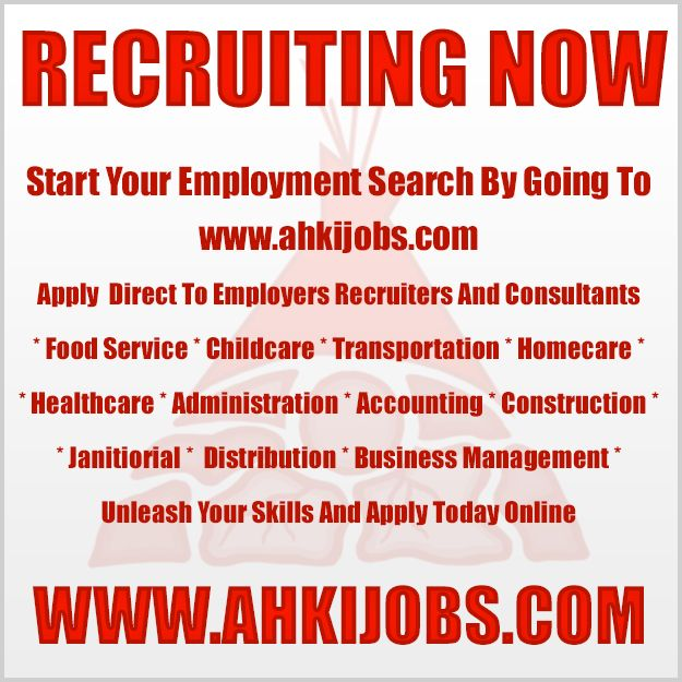 Search And Apply To Hundreds Of Opportunities https://ahkijobs.com/  From Recruiters Employers & Consultants Hiring First Nations * Inuit * Métis * Indigenous * Aboriginal Canadians * Students * Veterans * Permanent Residents * Aboriginal Canadians * Persons With Disabilities *