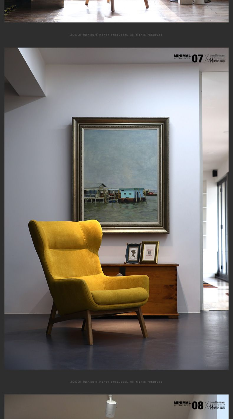 Single Sofa Chairs Small Sofas For Apartment Living Room Furniture Minimalism Modern Fabric Fashion Leisure Tigers Chair Ez Singapore