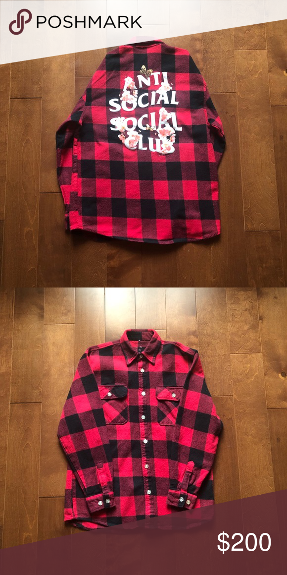1142a1344799 Anti Social Social Club Kkoch Flannel - 9 10 condition - No stains or marks  - Asia Exclusive Flannel - DM for any questions offers - Ships 1-2 days  after ...