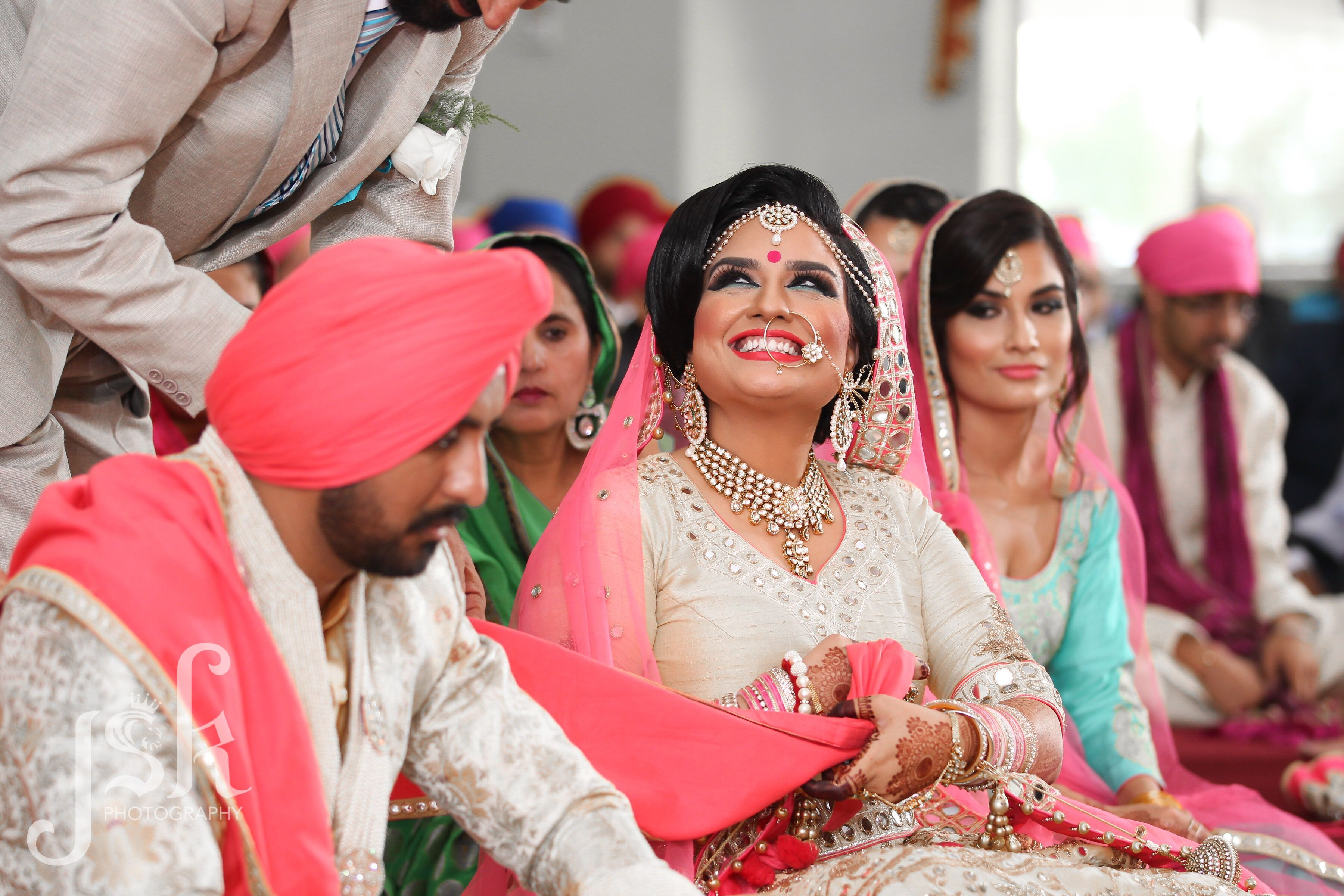 Father Giving Away The Indian Bride In Pink Love Smile Wedding Photography By