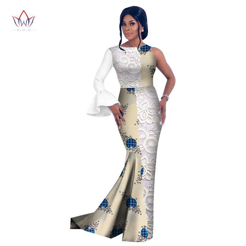 52dbfae18b5ee8 Style africain 2018 Mode Africaine Robes pour Femmes Robes Dentelle ...