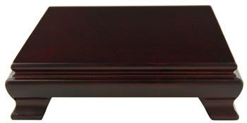 I plan on getting this Oriental Furniture Asian Gifts and Home Decor 6-Inch Chinese Rosewood Square Display Stand/Base