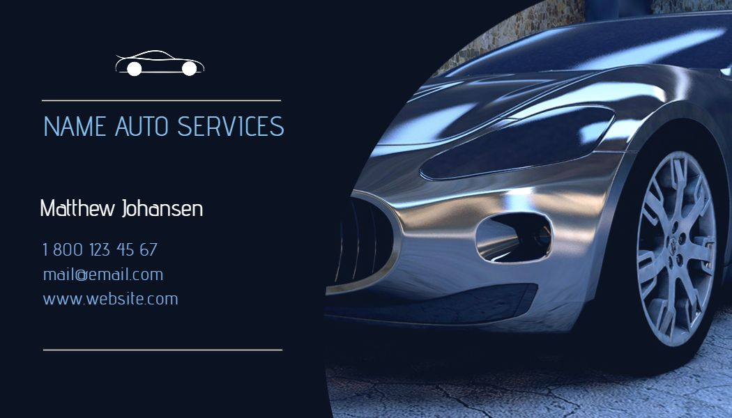 Blue Auto Services Business Card Template Click To