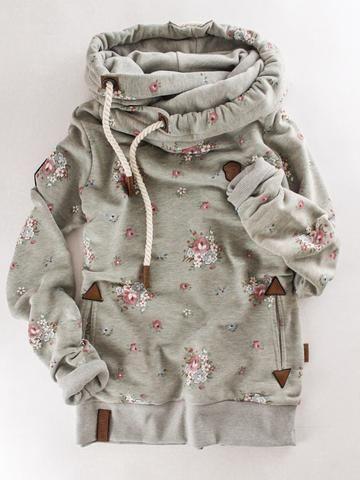 double hood hoodies women\u2019s hoodies floral hoodies zipper hoodies women\u2019s clothing Women\u2019s navy floral Tami hoodie