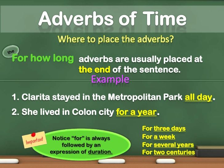 Image Result For Adverbs Of Time Examples Adverbs Pinterest