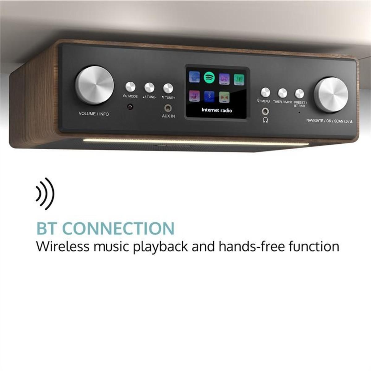 Auna Connect Soundchef Radio De Cuisine Dab Fm Support De