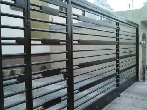 Porton barandas y rejas pinterest casas modernas for Puertas de hierro para casas modernas
