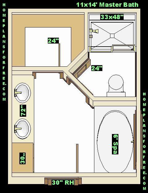 Master Bath 11x14 Ideas Design 032910 Jpg Cliquez Sur L Image Pour Fermer La Fenetre Bathroom Floor Plans Master Bath Layout New Bathroom Designs