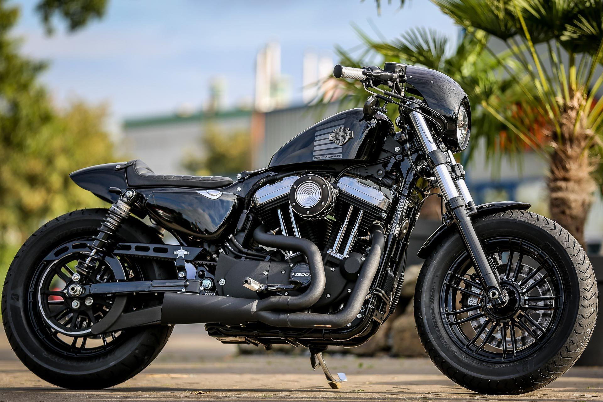 Harley Davidson Forty Eight Custom Black 2k16 Harley Davidson Sportster Harley Roadster Harley Davidson Pictures