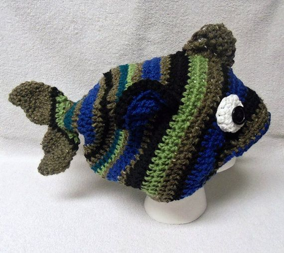 Fish hatCrochet fishChristmas giftBirthday by TanglingThreads