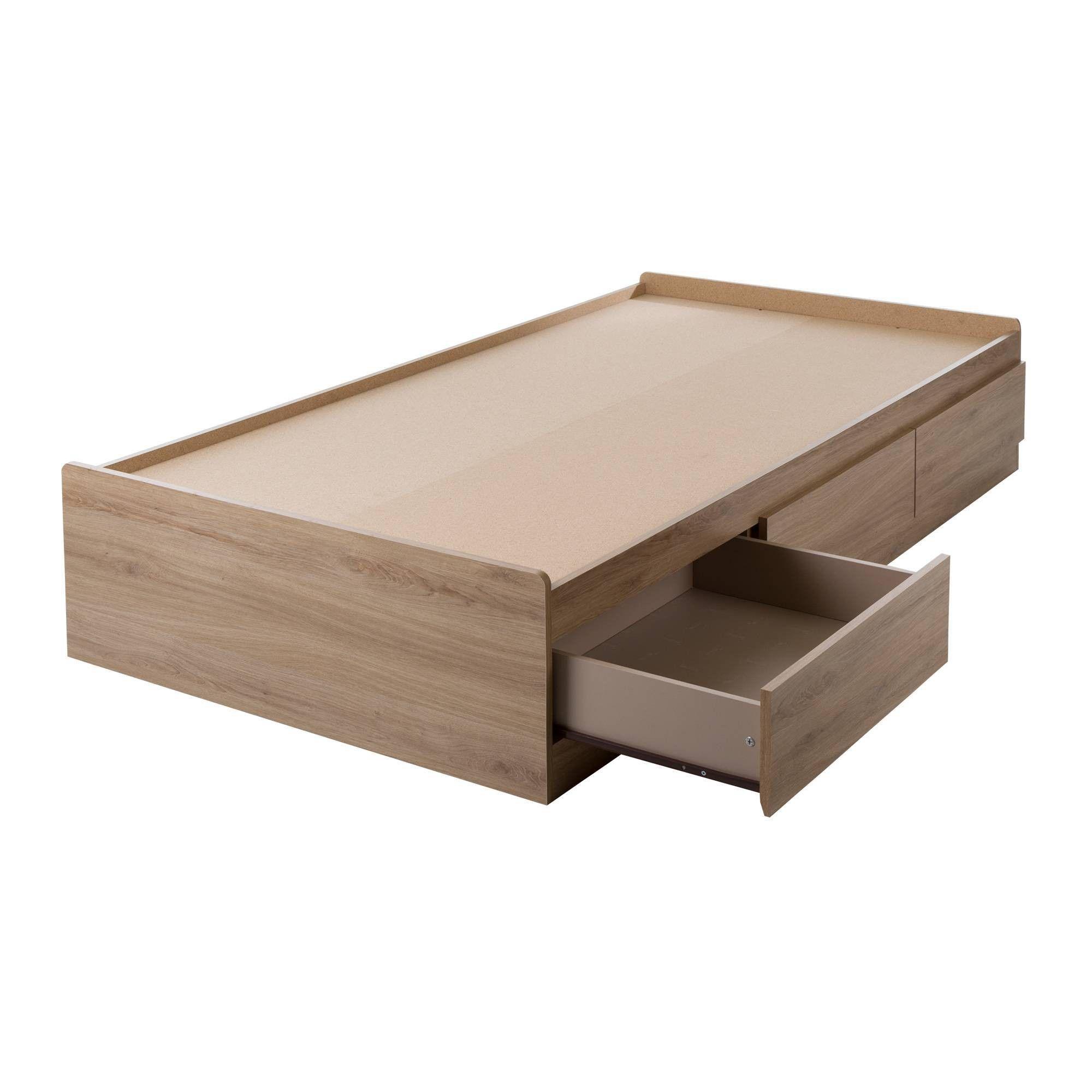 Fynn Mates Bed With 3 Drawers Twin Light Brown South Shore Dekorasi Kamar Tidur Buatan Sendiri Dekor Dipan